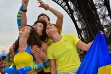 Run For Peace Ukraine, la Tour Eiffel